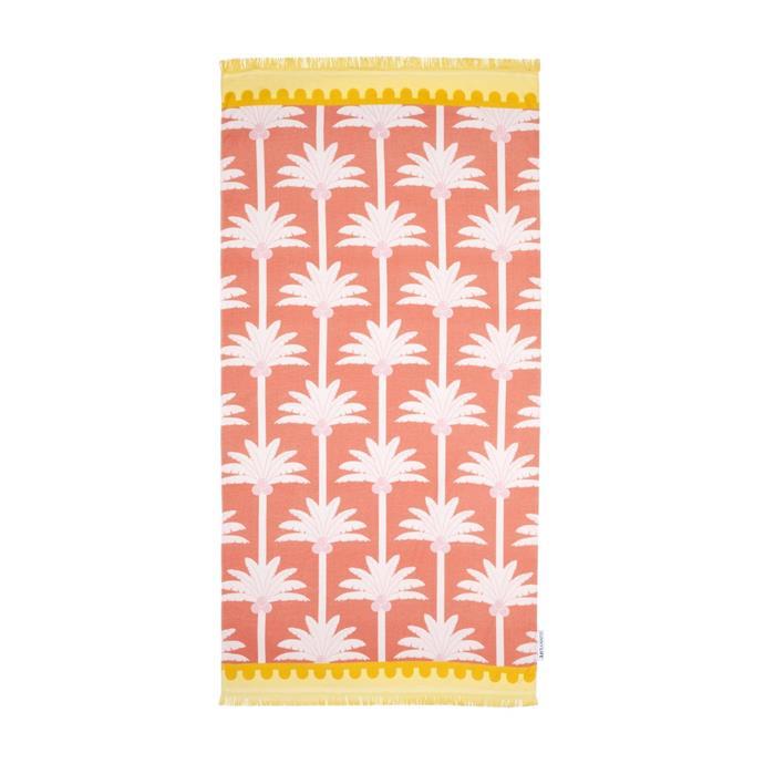 "Fouta Towel 'Kasbah', $39.95, [Sunnylife](https://www.sunnylife.com.au/products/fouta-towel-kasbah|target=""_blank""|rel=""nofollow"")."