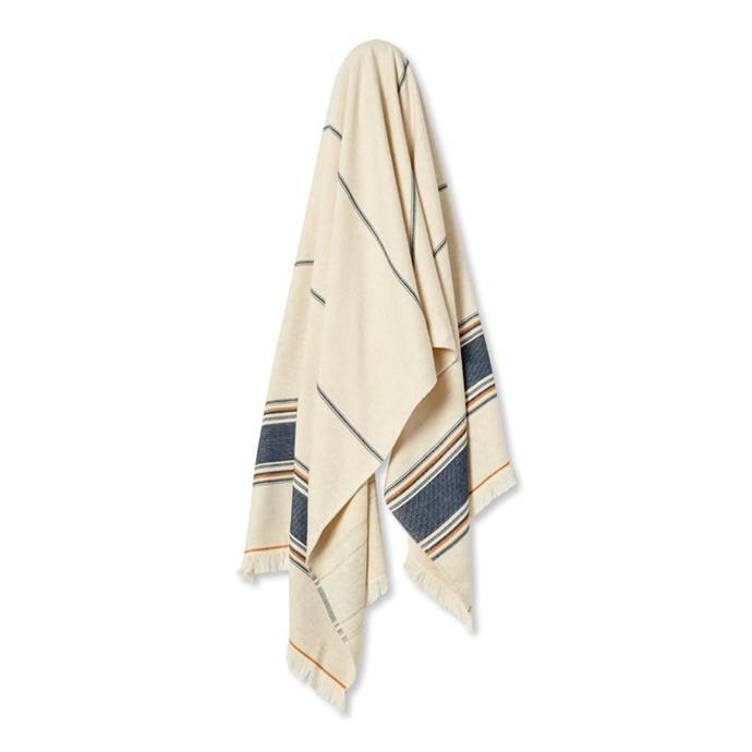 "Home Republic European Turkish Antalya Malmo Stripe beach towel, $69.99, [Adairs](https://www.adairs.com.au/bathroom/beach-towels/home-republic2/european-turkish-antalya-malmo-stripe-beach-towel-e78b05d0/|target=""_blank""|rel=""nofollow"")"