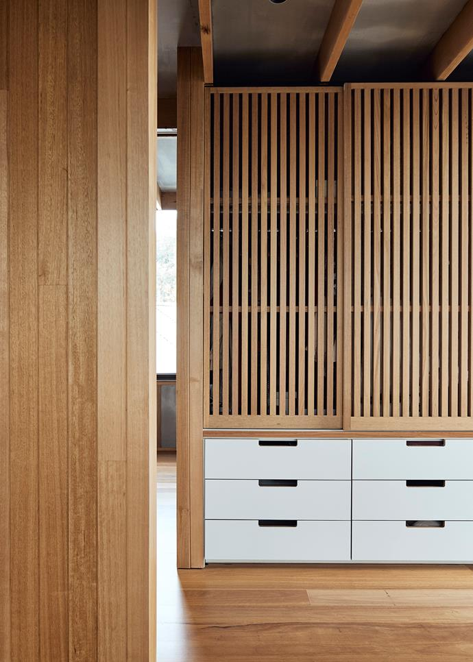 """Given the family includes three young children, we needed it to be robust but it also needed to speak to the client's Japanese heritage,"" Chris says of the elegant joinery, which highlights the thoughtful application of hard-wearing materials."
