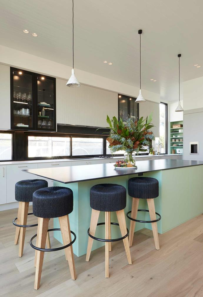 "**[Week 6, Kitchen Week](https://www.homestolove.com.au/the-block-2020-kitchen-reveals-21892|target=""_blank"")** The butler's pantry continues the green theme and features the bulk of the kitchen appliances for the space."