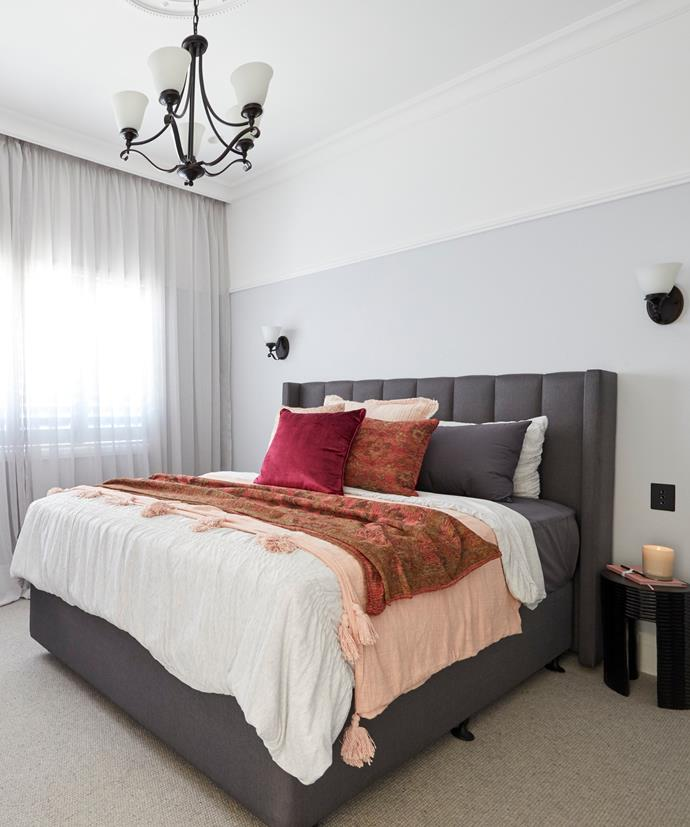 """**Week 1, Guest Bedroom** Sarah and George wound up with the largest [guest bedroom on The Block](https://www.homestolove.com.au/the-block-2020-guest-bedroom-reveals-21780