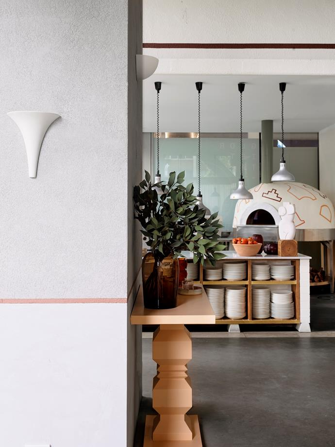 "The [pizza oven](https://www.homestolove.com.au/pizza-oven-21089|target=""_blank"") and open kitchen create a sense of theatre for guests as they enter the restaurant. Glorietta's interiors are as good as the food – so good that Glorietta been shortlisted for the 2020 Restaurant & Bar Design Awards."