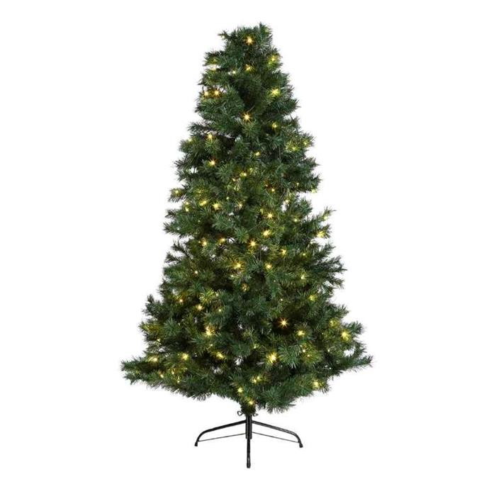 "Jolly & Joy Decorate Pre-Lit Christmas Tree (195cm), $140, [Spotlight](https://www.spotlightstores.com/party/party-decorator/room-table/christmas-decorations/christmas-trees/jolly-joy-decorate-pre-lit-christmas-tree/80479888|target=""_blank""|rel=""nofollow"")"