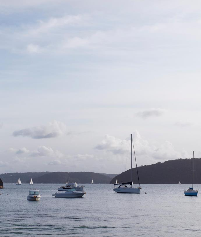 The beauty of the Pittwater landscape with its bobbing sailboats sets the tone for the home's calm and casual sensibility.