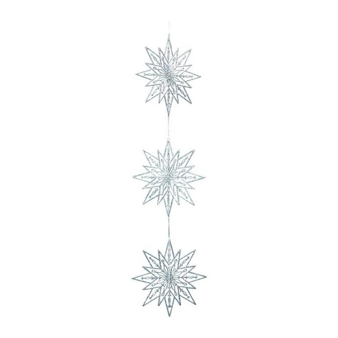 "Weiste garland snowflake chain in silver, $19.95, [David Jones](https://www.davidjones.com/home-and-food/christmas/20063057/GARLAND-SNOWFLAKE-CHAIN-SILVER.html|target=""_blank""