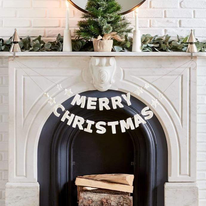 "Merry Christmas garland, $29, [West Elm](https://www.westelm.com.au/merry-christmas-garland-d8977|target=""_blank""