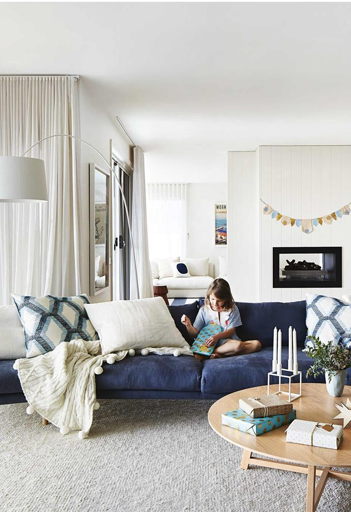 """**Living area** On Christmas morning, the [Jardan](https://www.jardan.com.au/