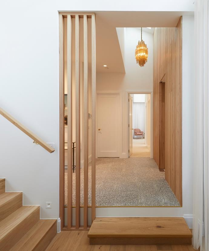 "**[Week 9, Hallway](https://www.homestolove.com.au/the-block-2020-hallways-and-laundry-21938|target=""_blank"")** Jimmy and Tam's entrance and hallway certainly packed a punch this week. Their soaring wall of timber panelling, paired with an original 1950s chandelier, chosen as their Suncorp game-changer, certainly paid off, with the judges describing the space as a ""visual feast."""