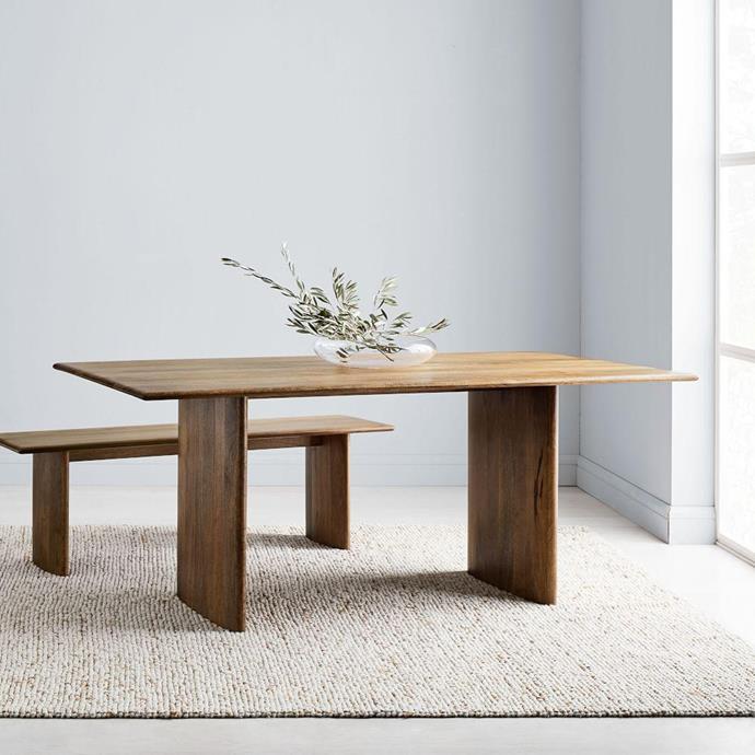 "Anton Solid Wood Dining Table in Burnt Wax, $1599, [West Elm](https://www.westelm.com.au/anton-solid-wood-dining-table-h4231 target=""_blank"" rel=""nofollow"")"