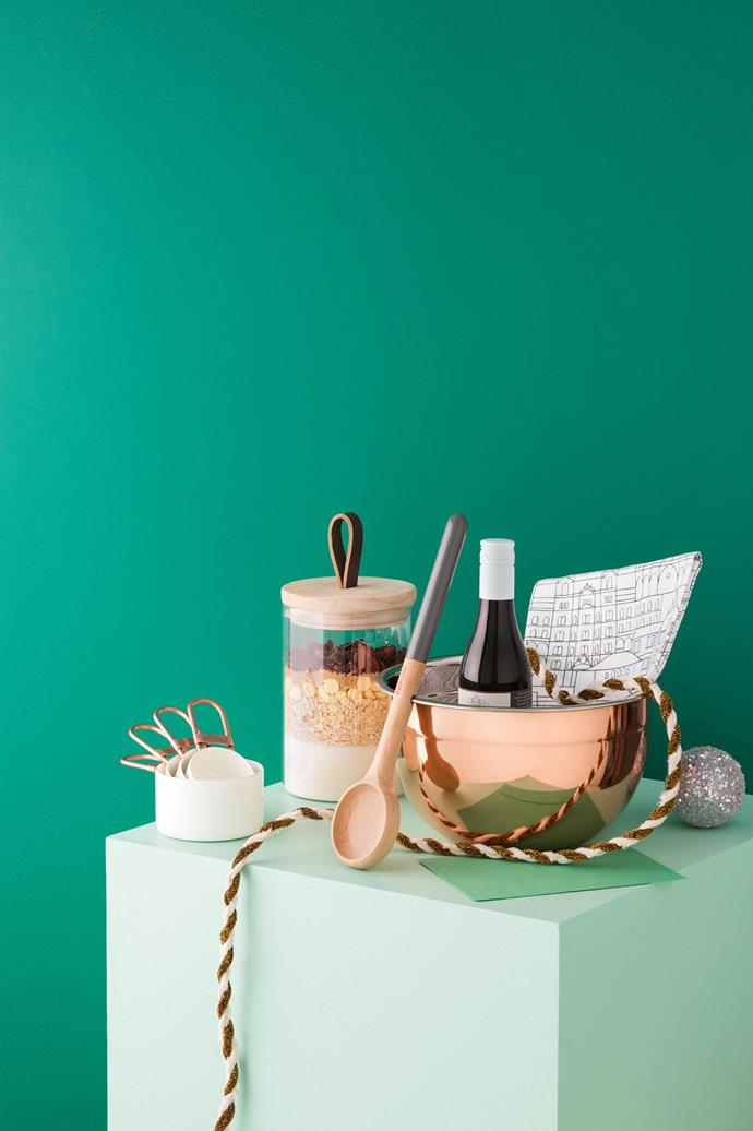 Treat the keen cook in your life to a special set of baking essentials, from a shiny new mixing bowl to the humble wooden spoon.