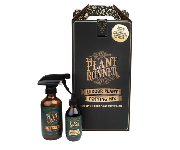 """**For the green thumb** Neem Oil Leaf Shine, Indoor Plant Food and Potting Mix Kit, $40, [The Plant Runner](https://theplantrunner.com/collections/plant-food-and-wellbeing/products/neem-oil-leaf-shine-and-insecticide