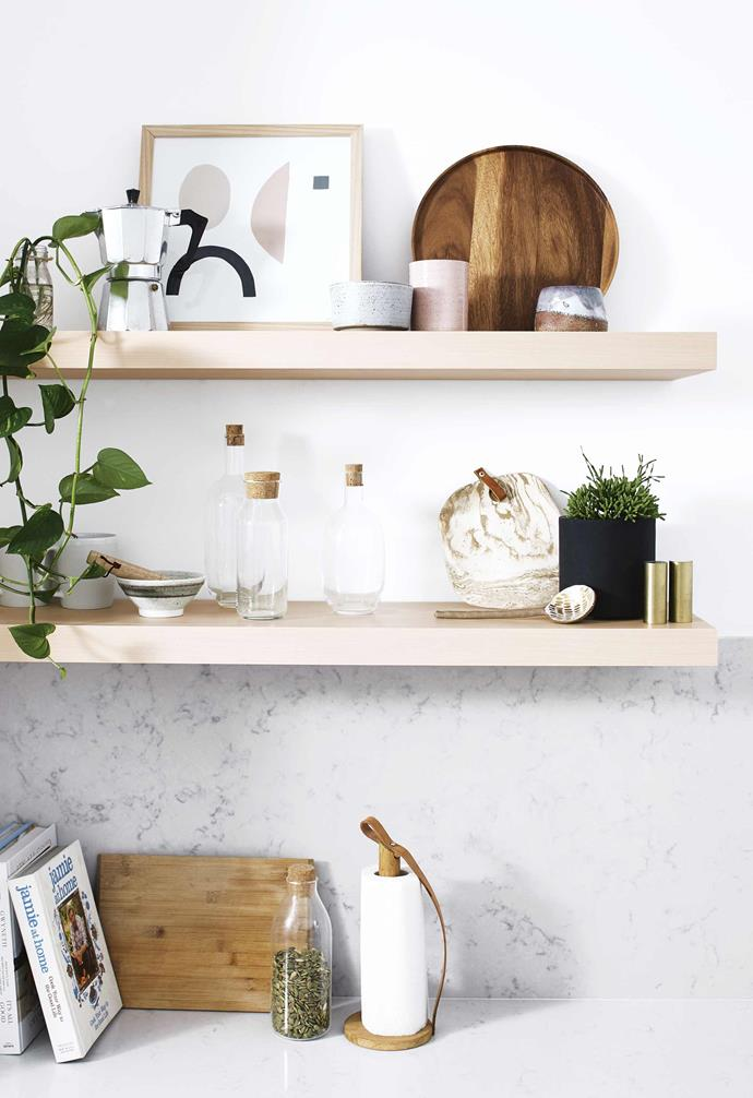 "Secondly, the area didn't function properly as a kitchen. It didn't have a dishwasher, which meant the stacking of dishes was always unsightly, the [compact kitchen space](https://www.homestolove.com.au/compact-kitchen-design-ideas-21584|target=""_blank"") made it hard to move around in when there was more than one or two people in the space."