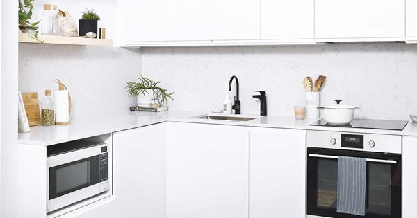 A small IKEA kitchen design transformed this space