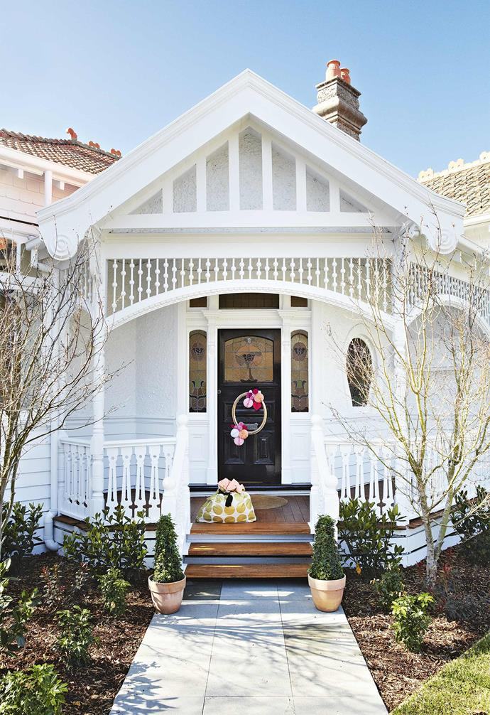 **Facade** A crisp coat of white paint highlights all the original heritage features of the home.