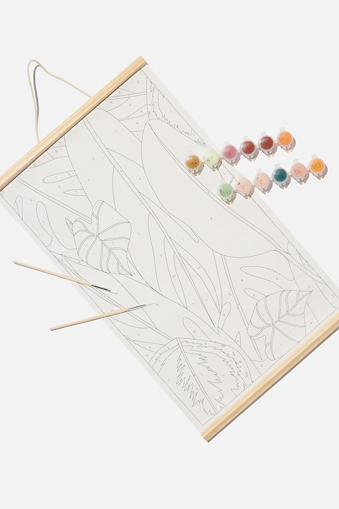 """Paint By Numbers kit, $19.99, from [Typo](https://cottonon.com/AU/paint-by-numbers/145927-08.html