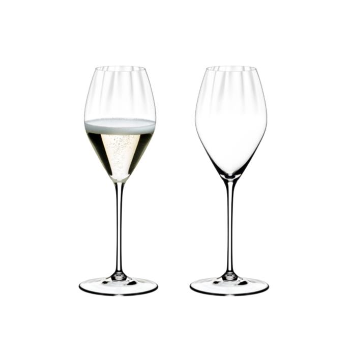"Performance champagne glasses, $99.95/two pack, [Riedel](https://www.riedel.com/en-au/shop/performance/champagne-688400028|target=""_blank""