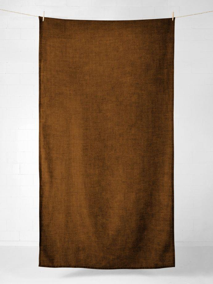 "Vintage Linen Tablecloth in Tobacco, $149, [Aura Home](https://www.aurahome.com.au/vintage-linen-tablecloth-tobacco|target=""_blank""