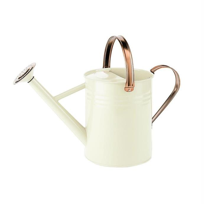 "Moulton Mill by Gardman metal watering can 4.5L, $54, [Botanex](https://botanex.com.au/products/gardman-watering-can?_pos=17&_sid=3566a1413&_ss=r|target=""_blank""