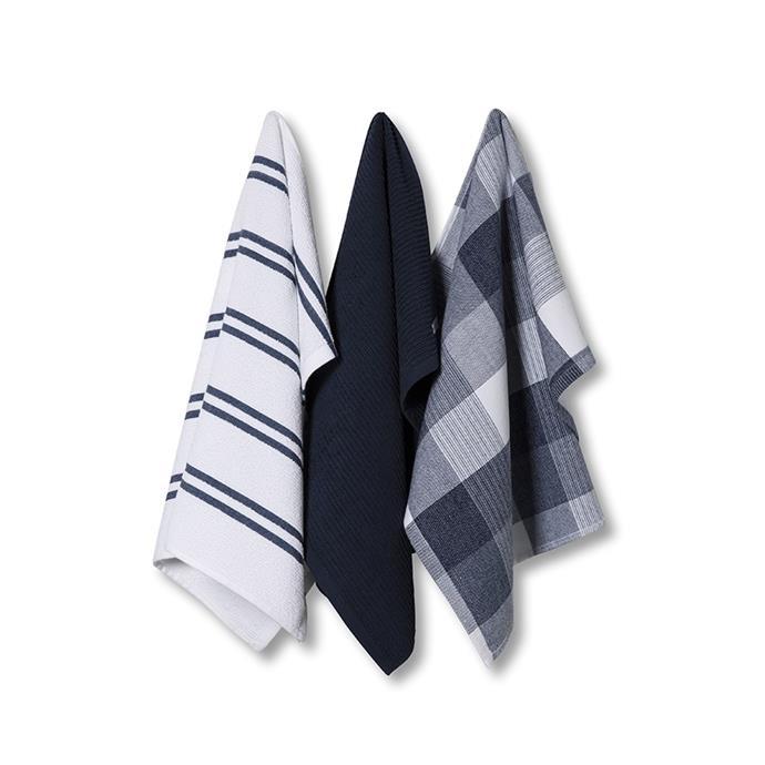 """Essential Check Tea Towels in Demin, $19.99, [Adairs](https://www.adairs.com.au/homewares/tableware/adairs/essential-check-tea-towels--demin/ target=""""_blank"""" rel=""""nofollow"""")"""