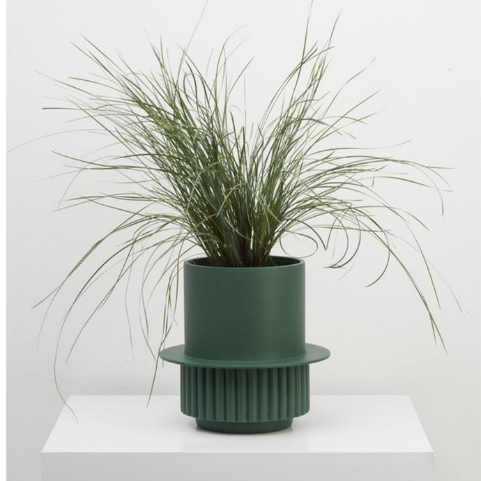 "'Roma' planter, $89, [Capra Designs](https://capradesigns.com/collections/all-products/products/roma-planter|target=""_blank""