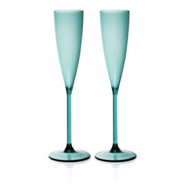 "Champage flûtes in Teal, $79 (set of 2), [Maison Balzac](https://www.maisonbalzac.com/products/2-flutes-teal-79|target=""_blank""
