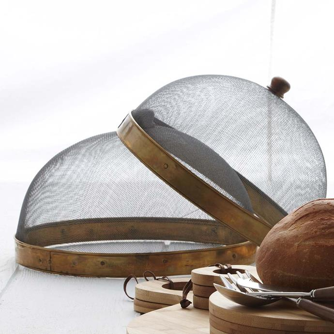 """Mayotte Food Cover, Metal, $44.95, [Provincial Home Living](https://www.provincialhomeliving.com.au/mayotte-food-cover