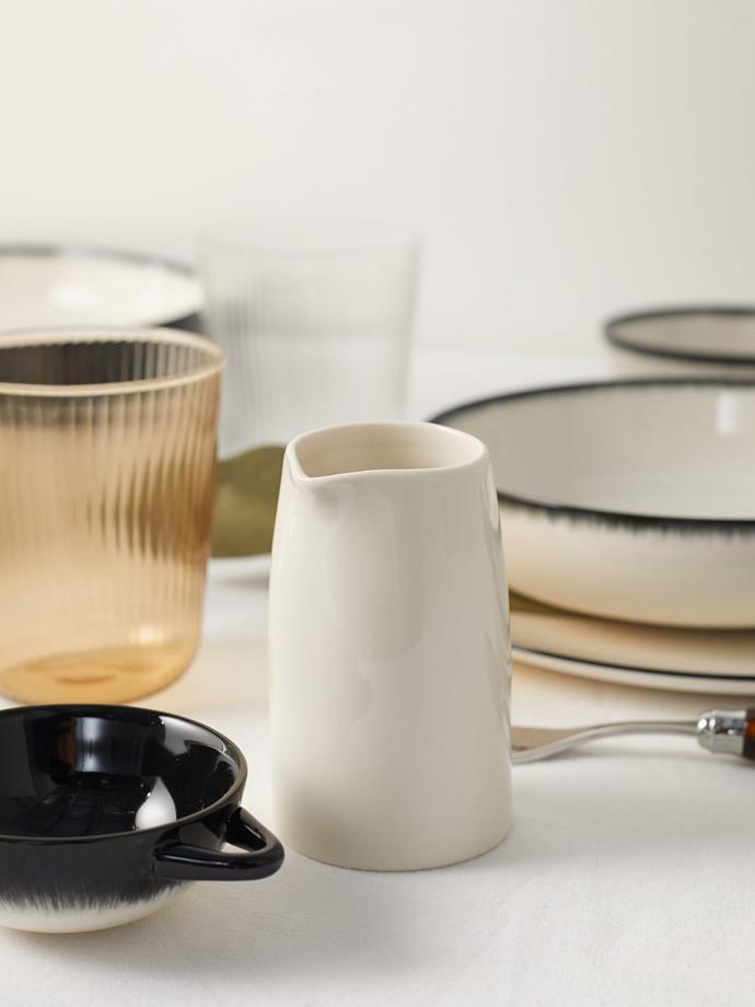 "Serax X Ann Demeulemeester, Glazed-porcelain milk jug, $20, [MatchesFashion](https://www.matchesfashion.com/au/products/Serax-x-Ann-Demeulemeester-Glazed-porcelain-milk-jug-1382788|target=""_blank""|rel=""nofollow"")"