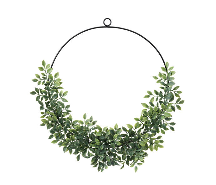 "VINTERFEST Artificial Wreath, $7.99, [IKEA](https://www.ikea.com/au/en/p/vinterfest-artificial-wreath-in-outdoor-metal-green-50436844/?utm_source=google&utm_medium=surfaces&utm_campaign=shopping_feed&utm_content=free_google_shopping_clicks_Decoration&gclid=CjwKCAiA-f78BRBbEiwATKRRBDDKcUV-17uarDkBmRDAQsURPneabyzcPbJqfv9Y0xRBKXubth26pxoCAVMQAvD_BwE|target=""_blank""|rel=""nofollow"")"