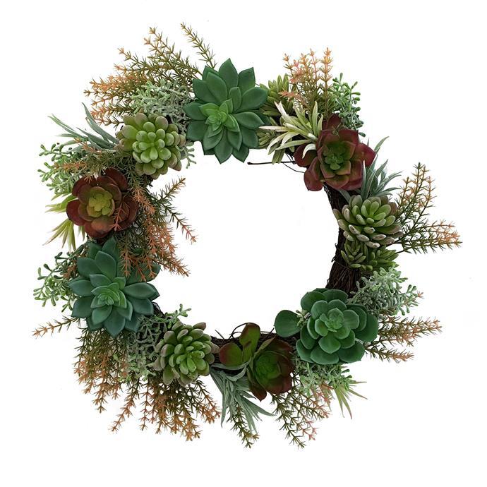 "K's Homewares & Decor Artificial Succulent Wreath, $69.95, [Temple & Webster](https://www.templeandwebster.com.au/Artificial-Succulent-Wreath-KB6054-KHDE1068.html?refid=GPAAU447-KHDE1068&device=c&ptid=982279797047&gclid=CjwKCAiA-f78BRBbEiwATKRRBDtbRDdgyBtYuDi_5Ex4wW1wG9HzWjxqoKH191wFJ1ww6qPP8ZJsERoCaKEQAvD_BwE|target=""_blank""|rel=""nofollow"")"