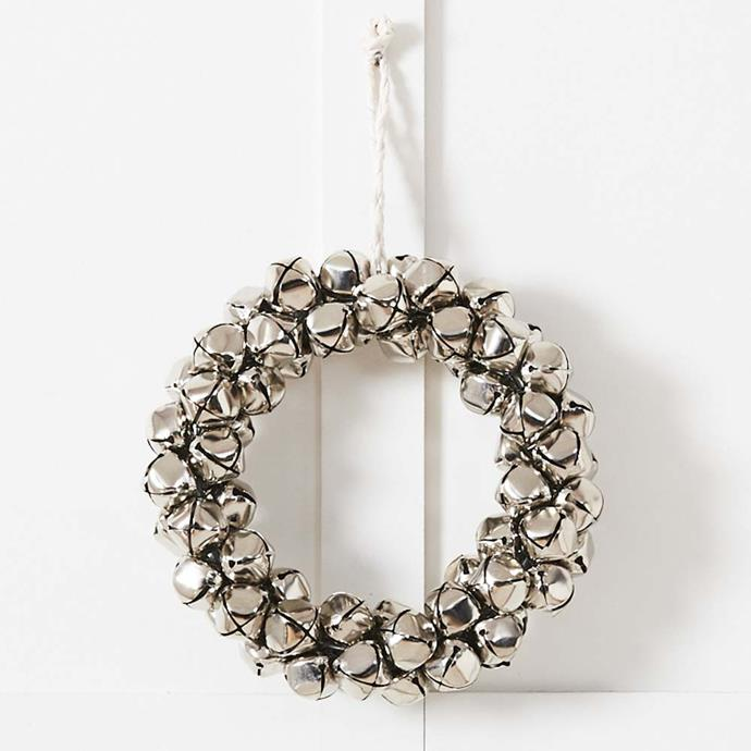 "Jingle Bell Wreath 25cm Natural, $44.95, [Provincial Home Living](https://www.provincialhomeliving.com.au/jingle-bell-wreath-1117259839|target=""_blank""