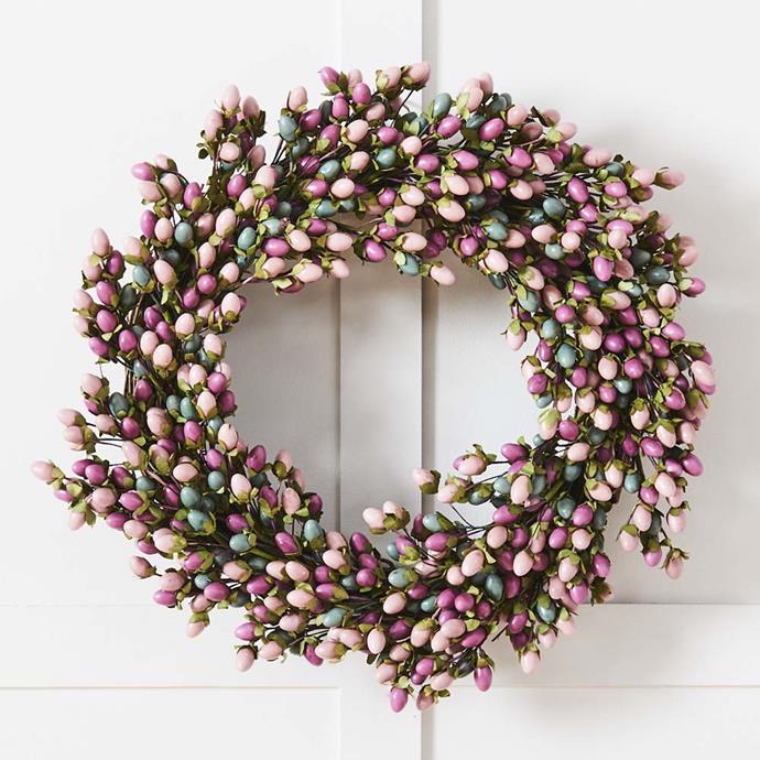 Jingle Wreath 45cm Multi, $89.95, Provincial Home Living