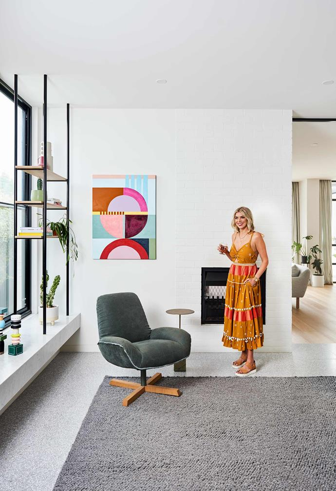 **Home sweet home** In their sprawling contemporary renovation of a 1940s home, a lived-in luxury is exuded by each and every room, where elements of Peta's tastemaker prowess appear in lively pops of colour and texture.