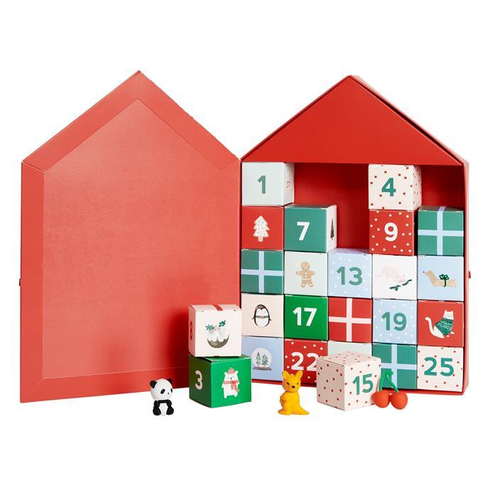 "Eraser Advent Calendar Holographic: Christmas, $79.99, [kiki.K](https://www.kikki-k.com/au/shop-by/eraser-advent-calendar-holographic-christmas-9332403146353.html|target=""_blank""|rel=""nofollow"")"