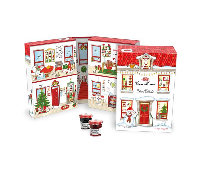 Bonne Maman Advent Calendar, $49, available from select Independent Supermarkets nationally from mid-October.