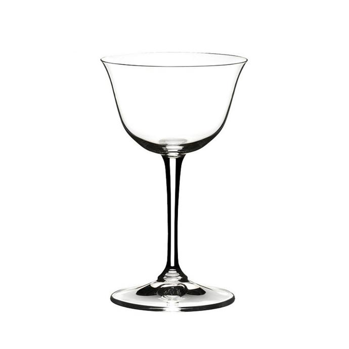 "Riedel 'drink specific' glassware sour set of 2,  $49.95, [David Jones](https://www.davidjones.com/home-and-food/dining/glassware/drinkware/cocktail-glasses/22680779/DRINK-SPECIFIC-GLASSWARE-SOUR-SET-OF-2.html|target=""_blank""