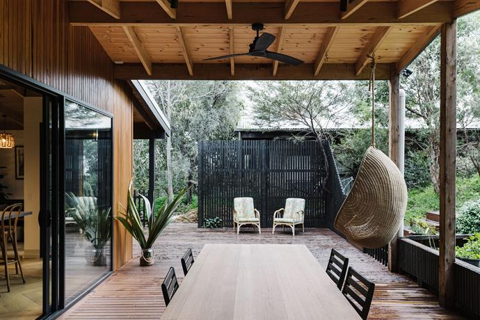 Millie's egg chair from Byron Bay Hanging Chairs was a 40th birthday gift.
