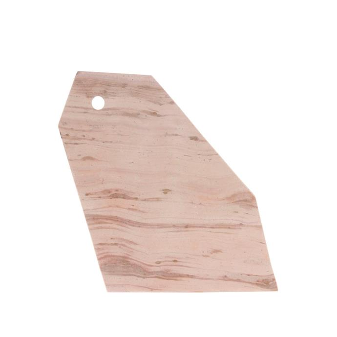 "Pink angle marble board, $34.98, [House of Orange](https://www.houseoforange.com.au/products/pink-angle-marble-board|target=""_blank""