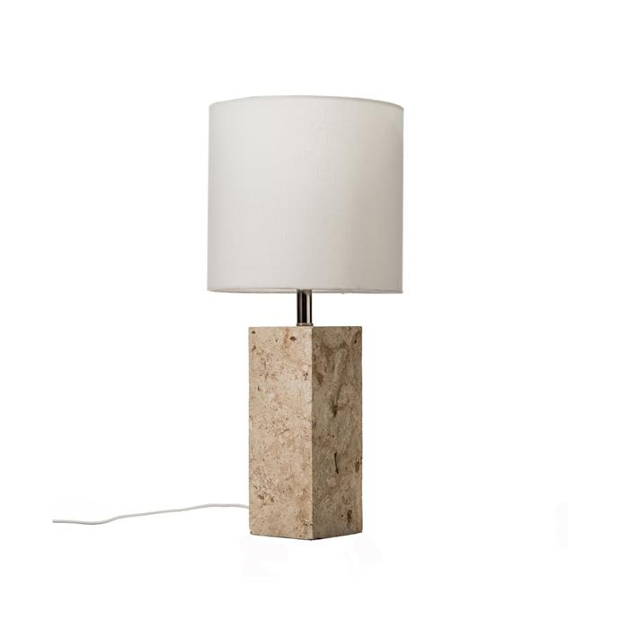"Sutton stone table lamp, $129, [Temple & Webster](https://www.templeandwebster.com.au/Sutton-Stone-Table-Lamp-PYSSTL-TMPL2382.html target=""_blank"" rel=""nofollow"")"