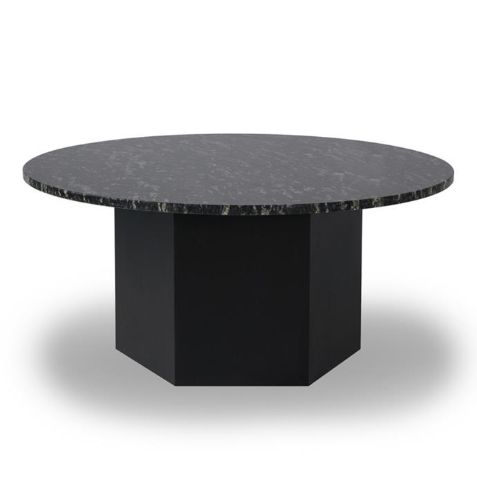 "Bunch nesting table in black forest granite, $549, [RJ Living](https://www.rjliving.com.au/bunch-nesting-table-small-black-forest-granite|target=""_blank""