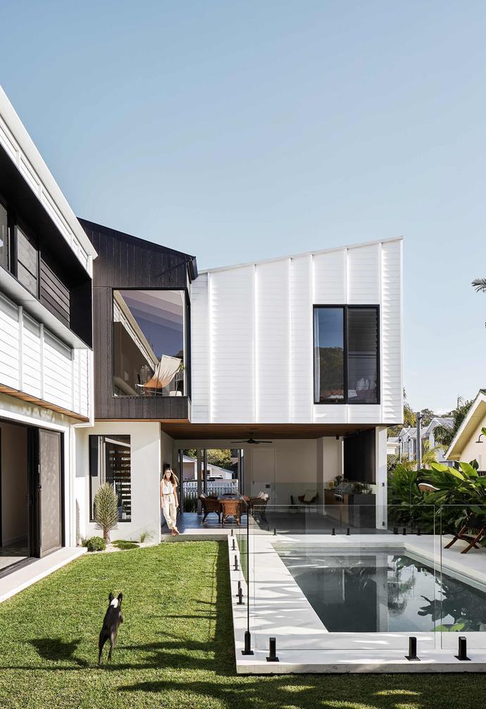 **Back garden** A lush lawn and pool create an urban oasis in the backyard.