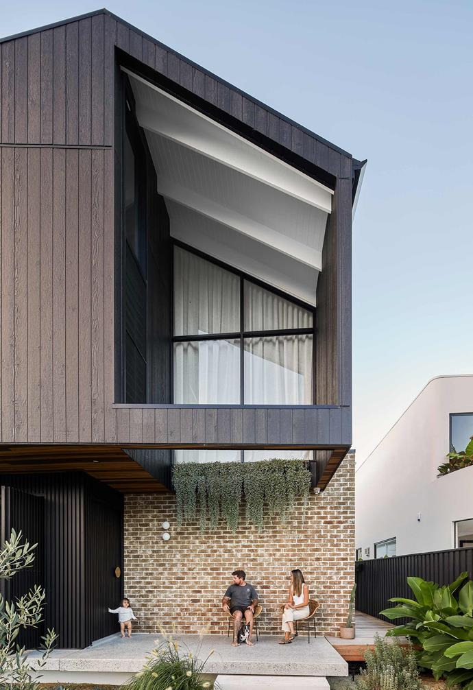 """**Exterior** Wrapped around the upper living area are [James Hardie](https://www.jameshardie.com.au/