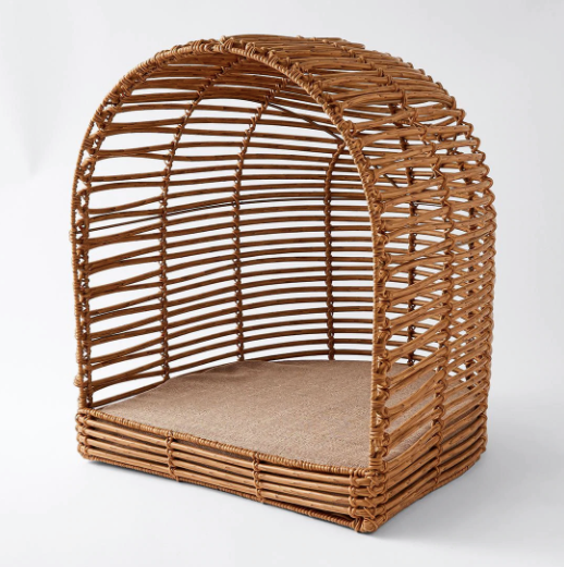 """Cooper Poly Rattan Cat Cave, $69, [Target](https://www.target.com.au/p/cooper-poly-rattan-cat-cave/63862492