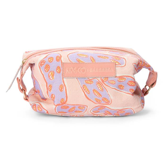 "Ngarduk Kunred toiletry bag, $69, [Kip&Co](https://kipandco.com.au/collections/bags/products/ngarduk-kunred-toiletry-bag|target=""_blank""