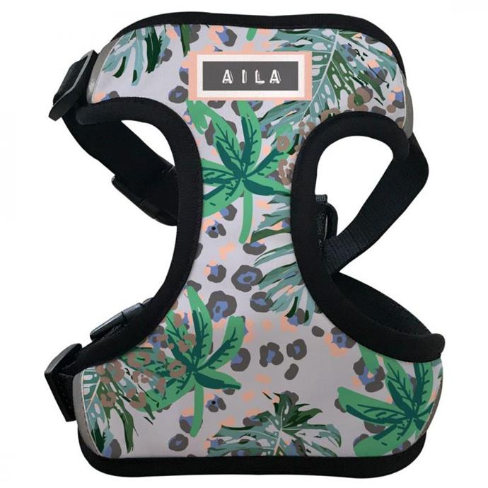 """IdPet Jungle Vibe Dog Harness, from $57.99, [Petstock](https://www.petstock.com.au/product/dog/jungle-vibe-dog-harness/69385