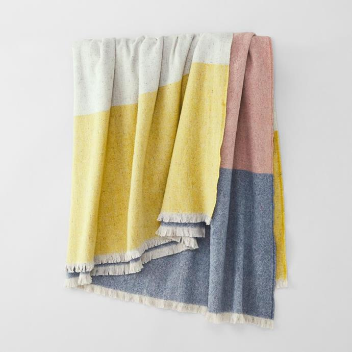 "Sheridan X Waverley Mills blanket crafted by Waverley Mills in Launceston, Tasmania, $499, [Sheridan](https://www.sheridan.com.au/waverley-blanket-s82b-b105-c224-520-multi.html|target=""_blank""