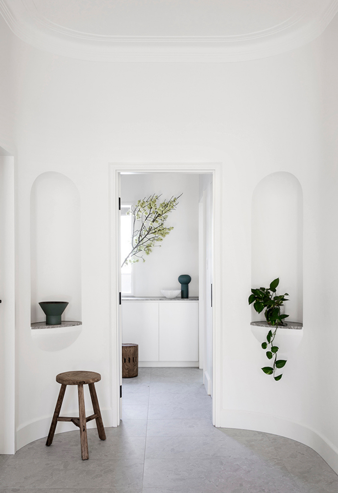 "A [trailing indoor plant](https://www.homestolove.com.au/trailing-indoor-plants-12481|target=""_blank"") and [sculptural objects and ceramics](https://www.homestolove.com.au/sculptural-ceramics-australia-21727