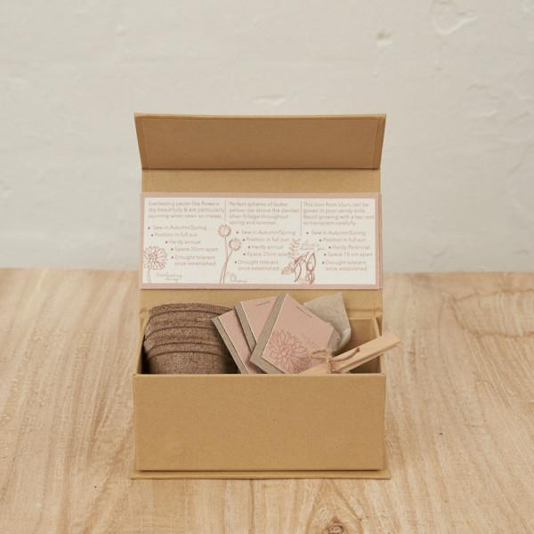 """Grow Your Own Seed Kit L, Edible flowers by Inartisan, $29, [Hard to Find](https://www.hardtofind.com.au/201185_grow-your-own-seed-kit-l-edible-flowers