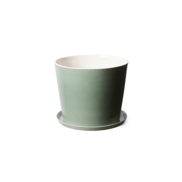 "Anne Black Design Flowerpot with saucer in Jade Green by Elevate Design, $59, [Hard to Find](https://www.hardtofind.com.au/190071_anne-black-design-flowerpot-with-saucer-in-jade-green|target=""_blank""|rel=""nofollow"")"