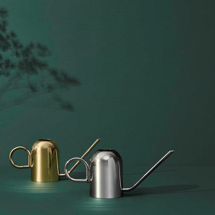 "AYTM Vivero Steel Watering Can, $189, [Design Stuff](https://www.designstuff.com.au/product/aytm-vivero-steel-watering-can/|target=""_blank""|rel=""nofollow"")"