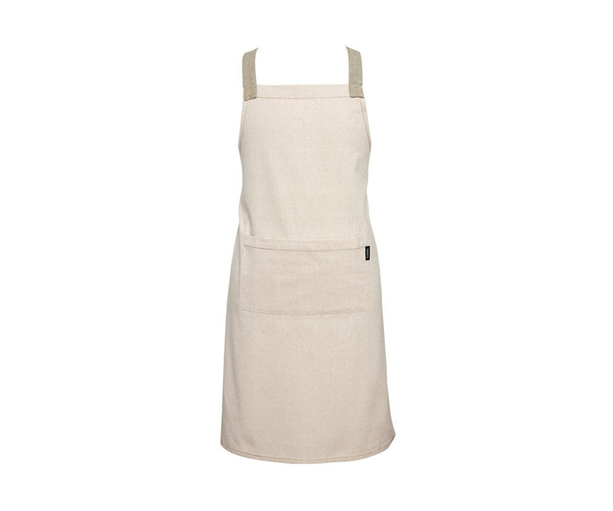 """Ladelle Eco Recycled Apron Natural, $39.95, [Myer](https://www.myer.com.au/p/ladelle-eco-recycled-apron-natural?istCompanyId=84873db0-394f-434b-8958-29526fe5f03c&istFeedId=3dd6959f-3482-45a5-8a47-313fef9bbe16&istItemId=iwmilalrr&istBid=t&gclsrc=aw.ds&https://clickserve.dartsearch.net/link/click?lid=92700056457813376&ds_s_kwgid=58700006213477564&ds_s_inventory_feed_id=97700000003318192&ds_a_cid=130142812&ds_a_caid=10691015409&ds_a_agid=108003498880&ds_a_fiid=&ds_a_lid=pla-937186578446&ds_e_adid=457706826230&ds_e_matchtype=search&ds_e_device=c&ds_e_network=g&ds_e_product_group_id=937186578446&ds_e_product_id=702045910&ds_e_product_merchant_id=100375023&ds_e_product_country=AU&ds_e_product_language=en&ds_e_product_channel=online&ds_e_product_store_id=&ds_url_v=2&ds_dest_url=https://apiservices.krxd.net/click_tracker/track?kxconfid=s1twtnvge&kxcampaignid=71700000070270586&kxadid=&kxsiteid=GOOGLE&clk=https://www.myer.com.au/p/ladelle-eco-recycled-apron-natural?istCompanyId=84873db0-394f-434b-8958-29526fe5f03c&istFeedId=3dd6959f-3482-45a5-8a47-313fef9bbe16&istItemId=iwmilalrr&istBid=t&gclid=CjwKCAiAkan9BRAqEiwAP9X6UfDq1e0RjOEOrDkC45LSxyJrRRsvcYMIOqwLIItVo8cp3IDqhNm0oRoCLUUQAvD_BwE&gclsrc=aw.ds